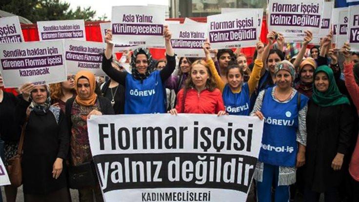 Kadın işçilerden Flormar direnişine destek