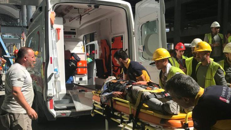 Üçüncü havalimanında iş kazası