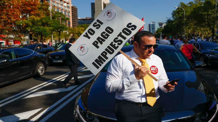 Uber İspanya'da eylem yapıyor