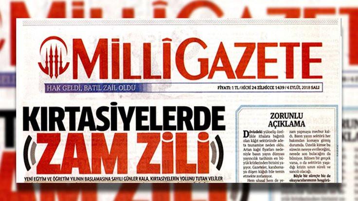 Milli Gazete sayfa azalttı