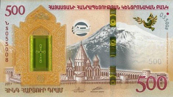 Ermenistan'ın tarihi yeni banknotlarda