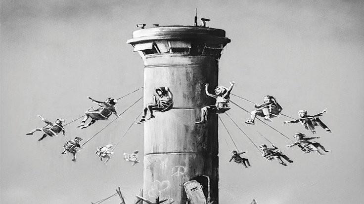 Banksy'den Filistin posteri