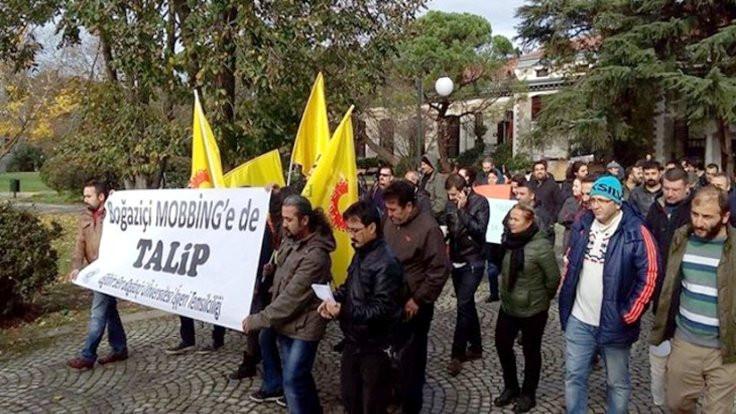 Boğaziçi Üniversitesi'nde, mobbing, sürgün ve soruşturmalar protesto edildi