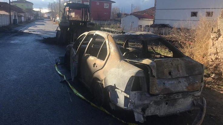 Kadın adayın evi ve arabası kundaklandı