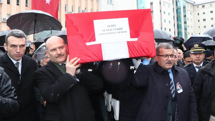 Emniyet Müdürü için cenaze töreni
