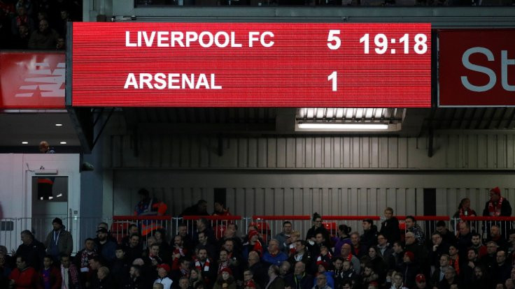 Liverpool Arsenal'e 5 attı