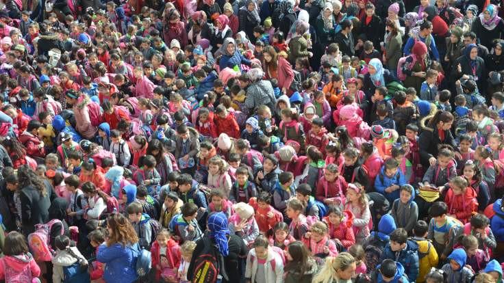 66 ilçeden kalabalık okul
