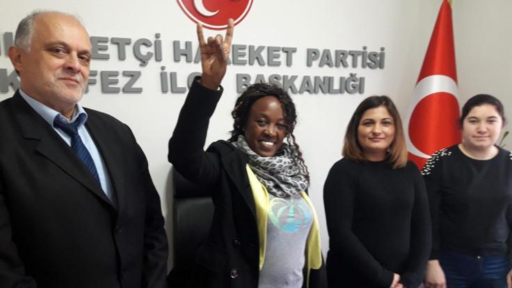 Etiyopyalı Ceran, MHP'ye üye oldu