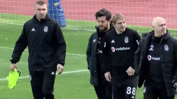 Yılmaz, Beşiktaş'ta ilk idmana çıktı