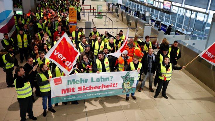 Almanya'da grev: 640 uçuş iptal edildi