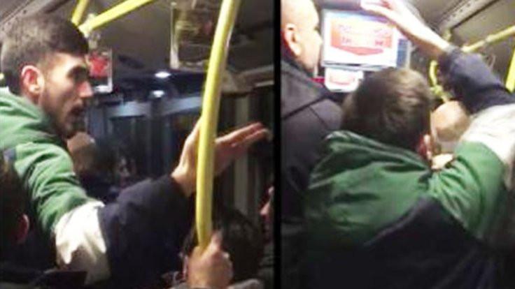 Metrobüste maç kavgası