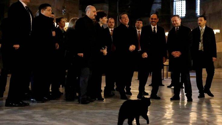 Çipras'ın önünden kara kedi geçti!