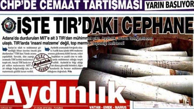 Aydınlık'ın MİT TIR'ları davası düştü!