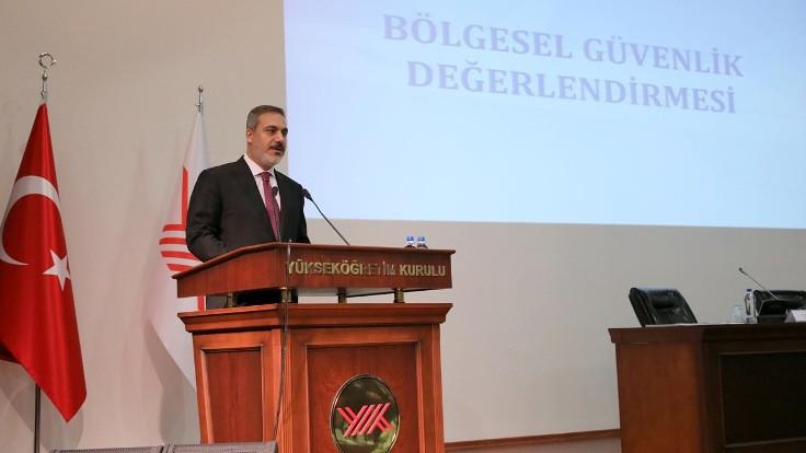 MİT Başkanı Hakan Fidan YÖK'te konferans verdi