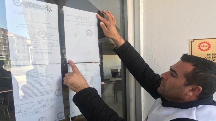 Karabağlar'da işçiler greve gidiyor