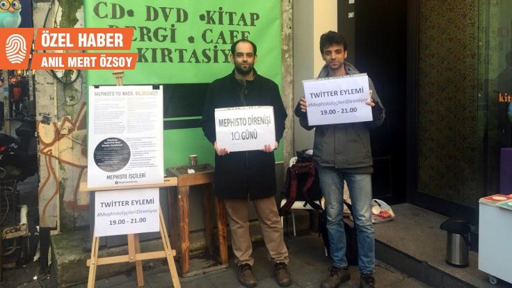 Mephisto işçileri eylemde: Yemek ücretimiz günlük 9 lira 60 kuruş…