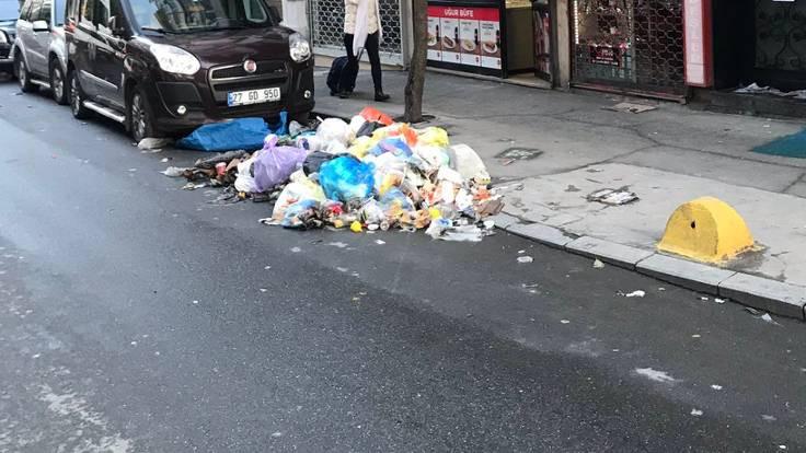 Şişli'de temizlik işçileri eylemde
