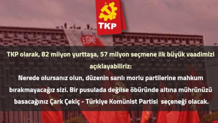 TKP'nin 'sarılı morlu parti'sine tepki