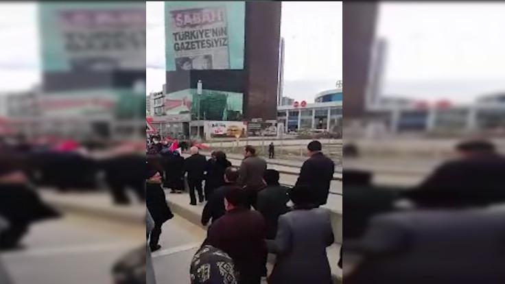 SAADET'lilerden A Haber'e protesto