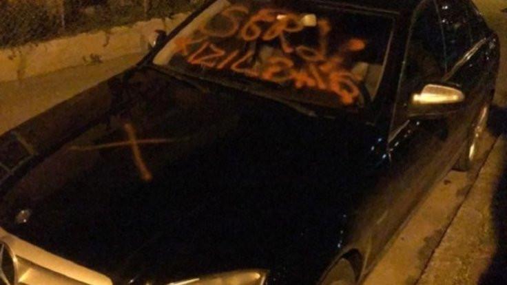 Aracına 'Defol Kızılbaş' ve 'İslam' yazıldı