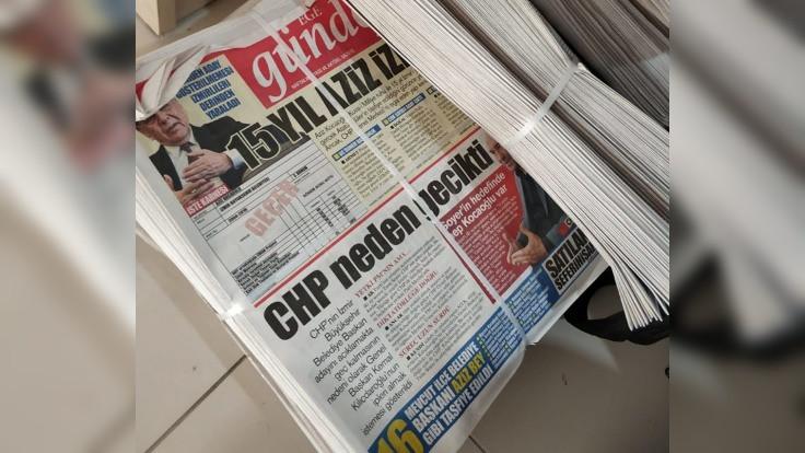 CHP'den İzmir'de 'korsan gazete' tepkisi: PTT suç işliyor