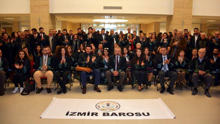 İzmir Barosu: Avukatları adliyelerin misafiri sanan anlayışı terk edin