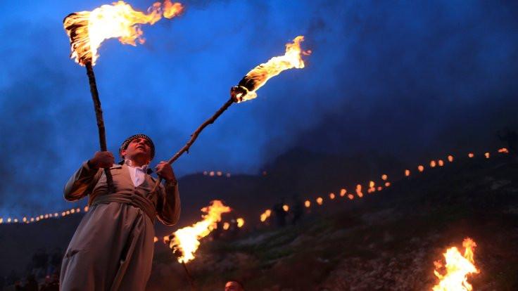 Kürdistan'da coşkulu Newroz kutlamaları