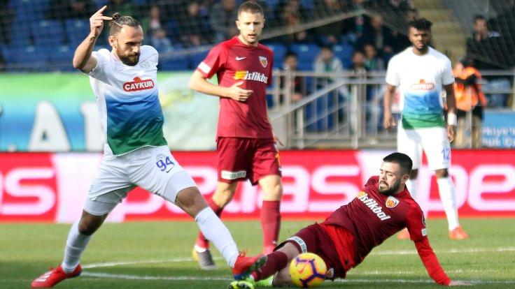 Çaykur Rizespor: 3 - İstikbal Mobilya Kayserispor: 0