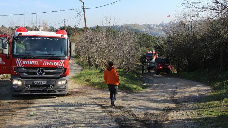 Sultangazi'de orman yangını