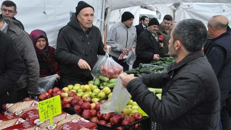 Zincir marketlere tanzim ürün sevkiyatı