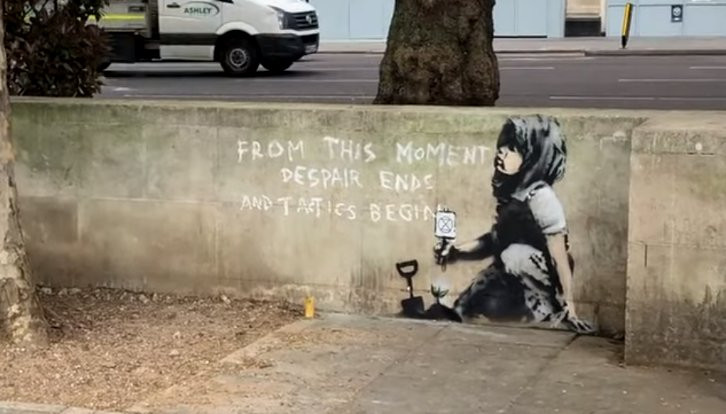 Banksy çevre eyleminde!