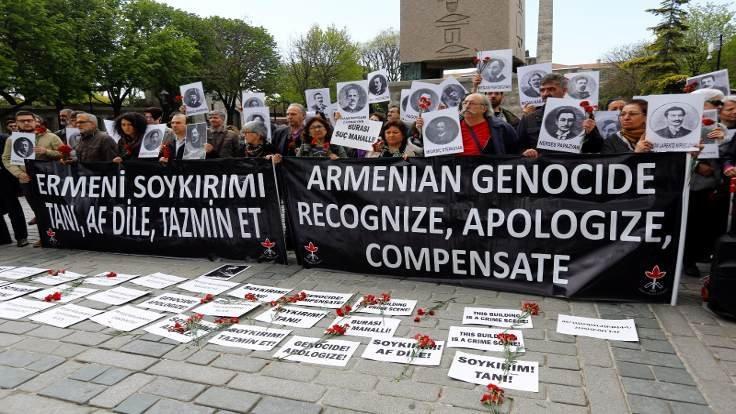 Ermeni soykırımı için iki anma töreni
