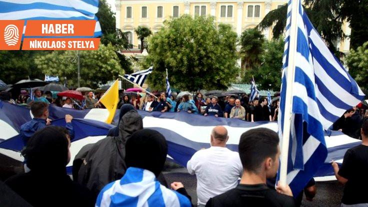 Milliyetçi Yunan subaylar 'sivil' gösteri yapıyor!