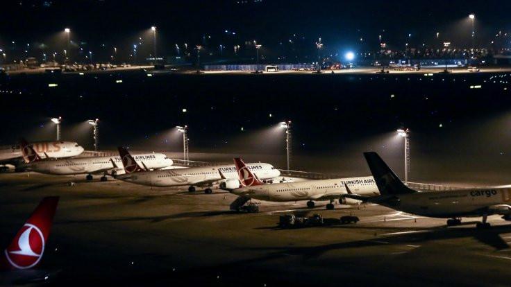 Havalimanından son uçuş yapıldı