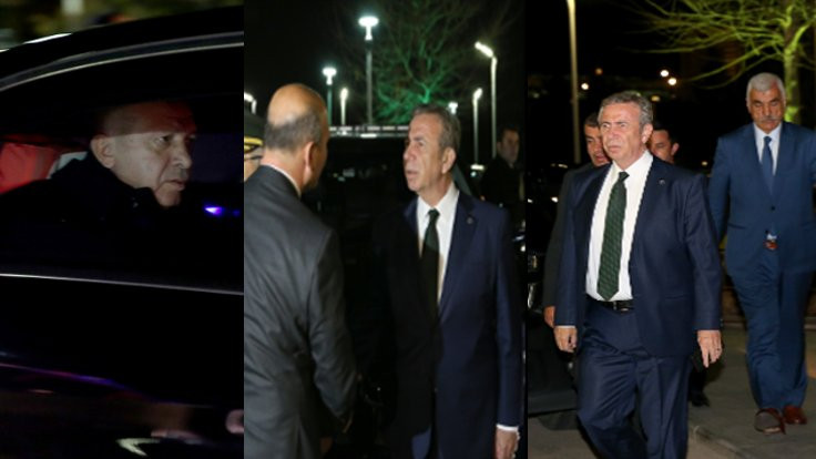 Mansur Yavaş, Erdoğan'ı karşıladı