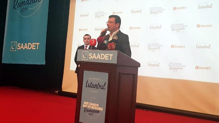 Ekrem İmamoğlu, Saadet Partisi iftarında