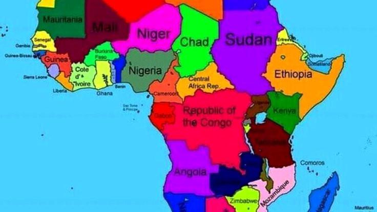 Etiyopya'nın Afrika haritasında Somali yok