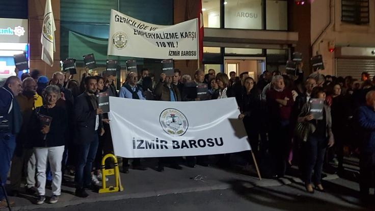 İzmir Barosu, YSK'yi protesto için 'demokrasi nöbeti' başlattı