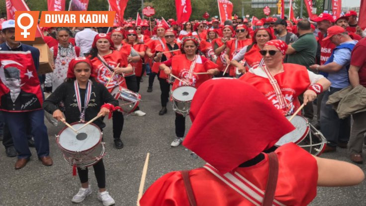 Ankara 1 Mayıs'ı: DİSK Kadın Bandosu en önde yürüdü