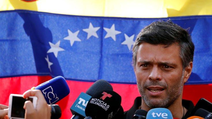 Venezuela'da VP lideri Lopez için yakalama kararı