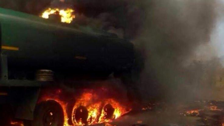 Yakıt tankeri patladı: 55 ölü