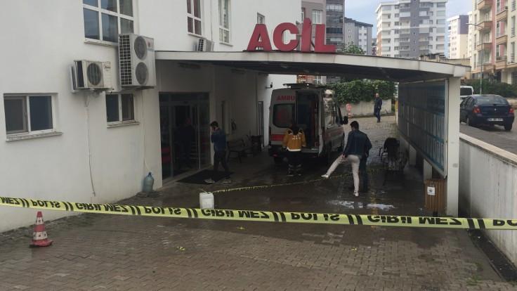 Hastane girişinde silahlı saldırı