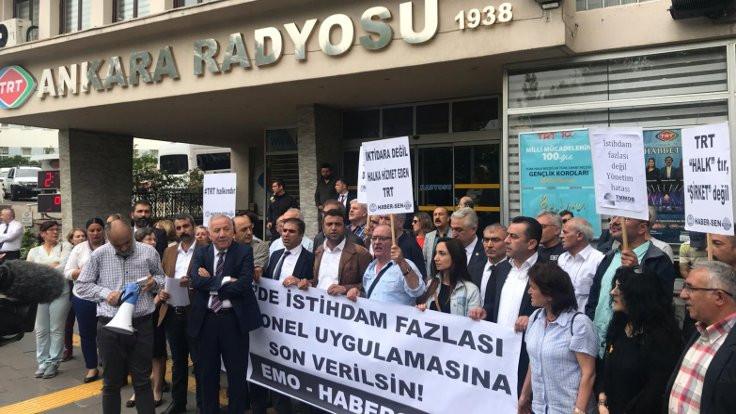 TRT'nin tasfiye listesine tepki
