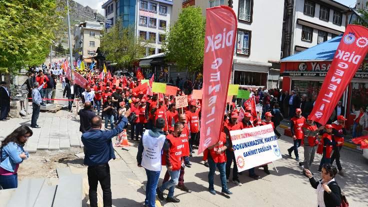 Dersim'de 1 Mayıs mitingi: Kıdem tazminatı son kalemiz