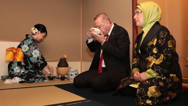 Erdoğan Japonya'da çay seremonisine katıldı
