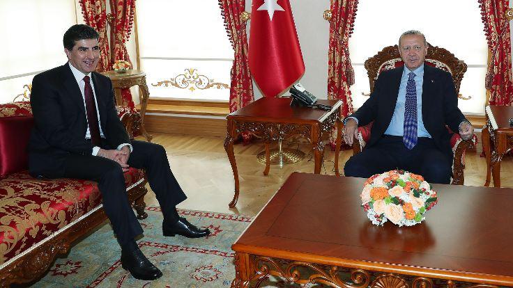 Erdoğan, Neçirvan Barzani'yle görüştü