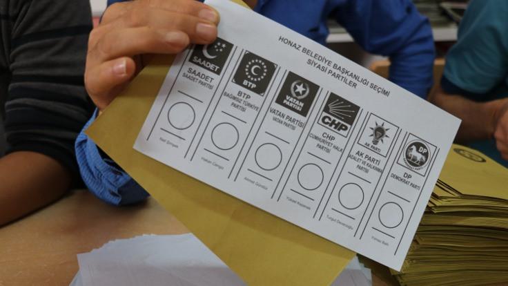 3 ilçe ve 1 beldede oy sayıları belli oldu