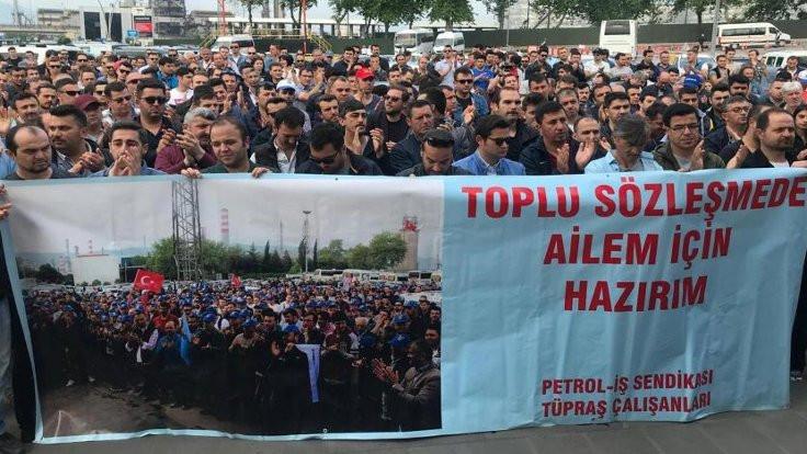TÜPRAŞ işçileri rafineriye kapandı
