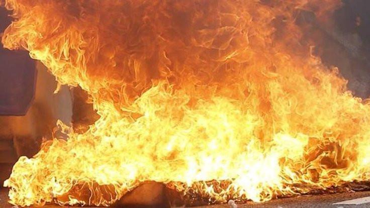 45 bin fıçı viski yandı