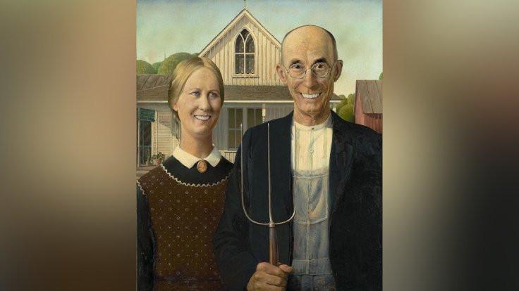 Ünlü tabloları 'güldürüyorlar'